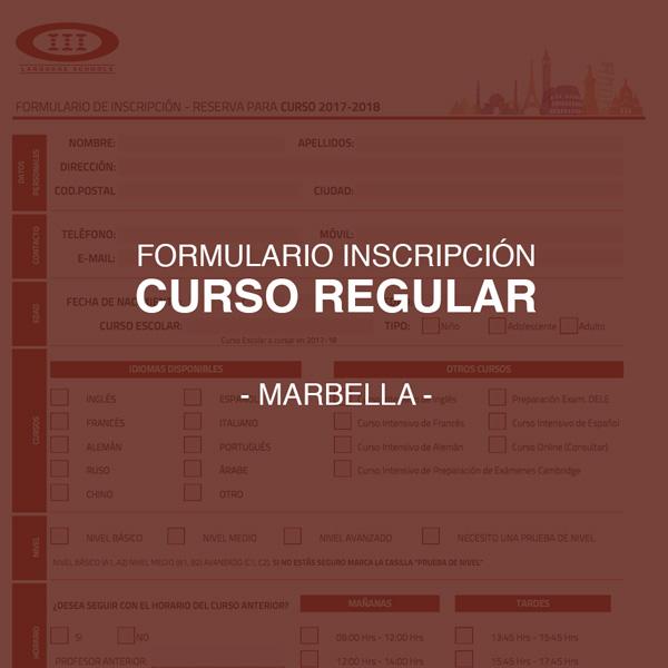 Descarga el formulario de inscripción para nuestros cursos regulares de Marbella (Septiembre)