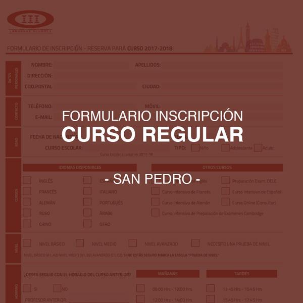 Descarga el formulario de inscripción para nuestros cursos regulares de San Pedro (Septiembre)
