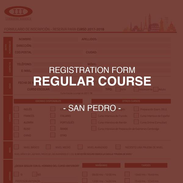 Registration Form for Regular Courses - San Pedro